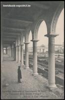 Expo 1913 in opbouw: La Colonnade de la Section Française, Vue sur la Cour d'Honneur