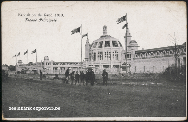Expo 1913 in opbouw: Façade Principale