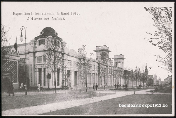 Expo 1913 in opbouw: L'Avenue des Nations