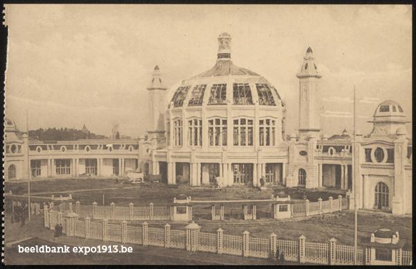 Expo 1913 in opbouw: L'entrée