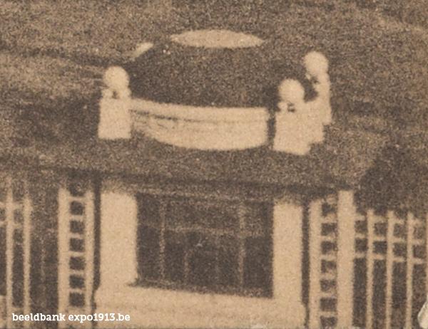 Expo 1913 in opbouw: L'entrée - detail