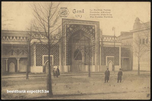 Expo 1913 in opbouw: Perzische Afdeeling