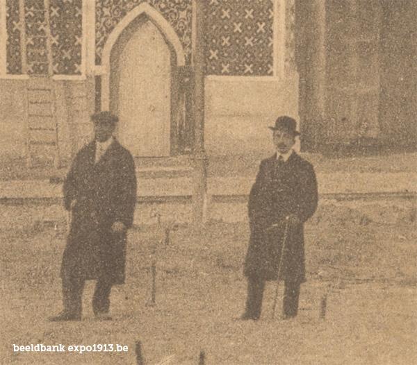 Expo 1913 in opbouw: Perzische Afdeeling - detail
