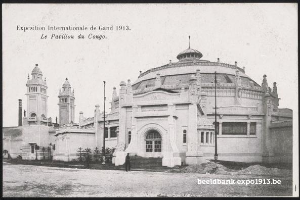 Expo 1913 in opbouw: Le Pavillon du Congo