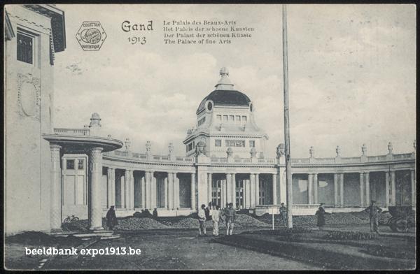 Expo 1913 in opbouw: Het Paleis der schoone Kunsten