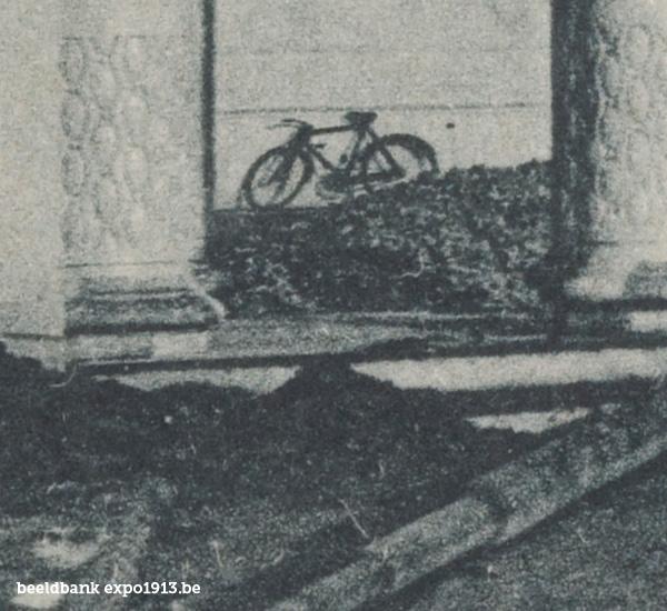 Expo 1913 in opbouw: Het Paleis der schoone Kunsten - detail