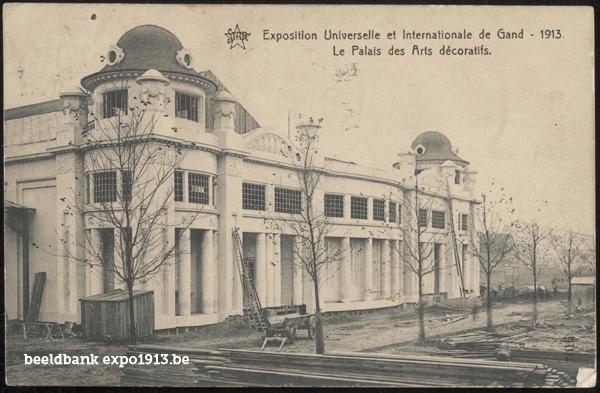 Expo 1913 in opbouw: Le Palais des Arts décoratifs