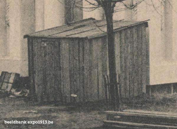 Expo 1913 in opbouw: Le Palais des Arts décoratifs - details