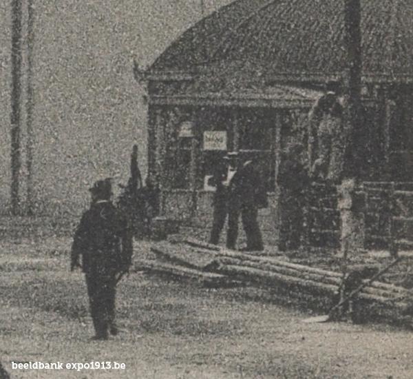 Expo 1913 in opbouw: Canadeesche Afdeeling - detail