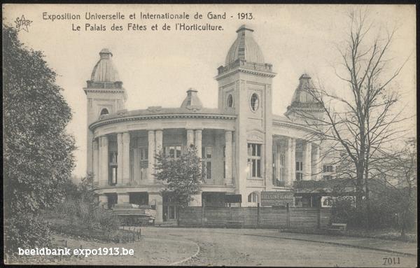 Expo 1913 in opbouw: Le Palais des Fêtes et de l'Horticulture