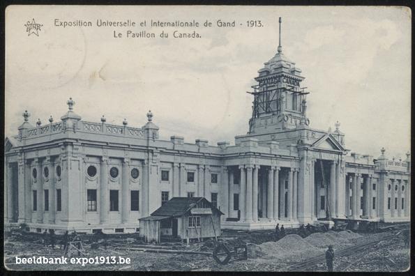 Expo 1913 in opbouw: Le Pavillon du Canada