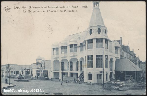 Expo 1913 in opbouw: Le Burgerhuis et l'Avenue du Belvédère