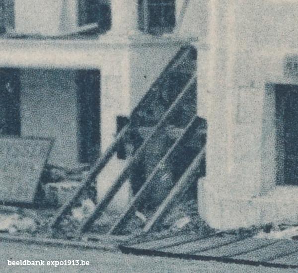 Expo 1913 in opbouw: Le Burgerhuis et l'Avenue du Belvédère - details