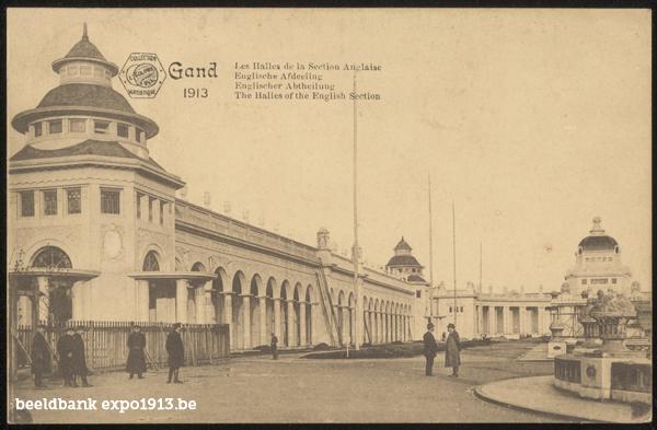 Expo 1913 in opbouw: Englische Afdeeling
