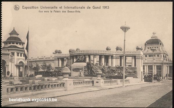 Expo 1913 in opbouw: Vue vers le Palais des Beaux-Arts
